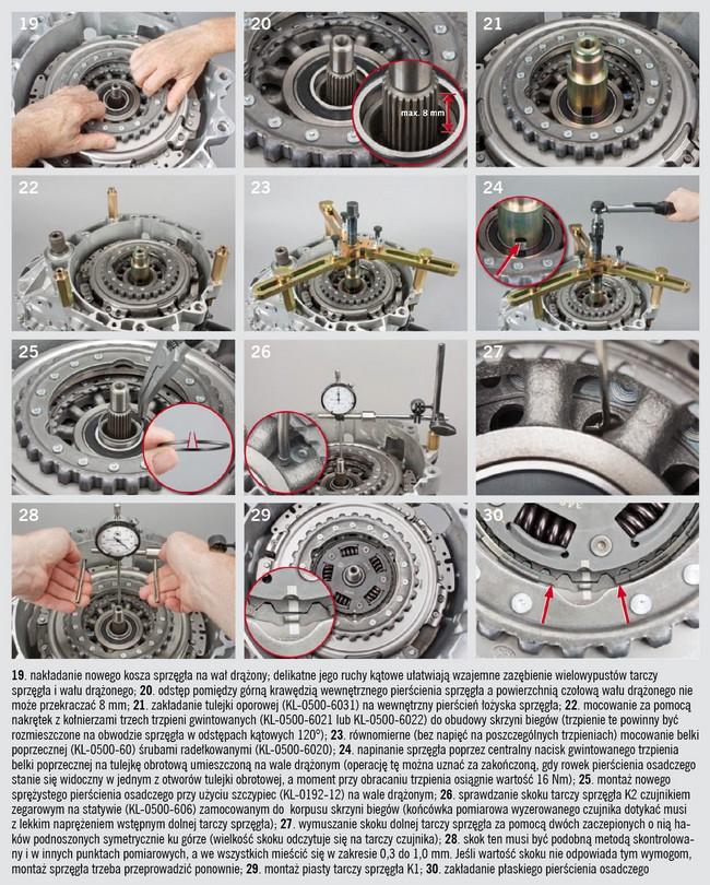 Montaż podwójnego sprzęgła